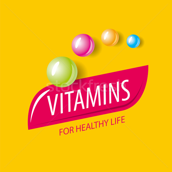 ベクトル ロゴ ビタミン フォーム カプセル ストックフォト © butenkow
