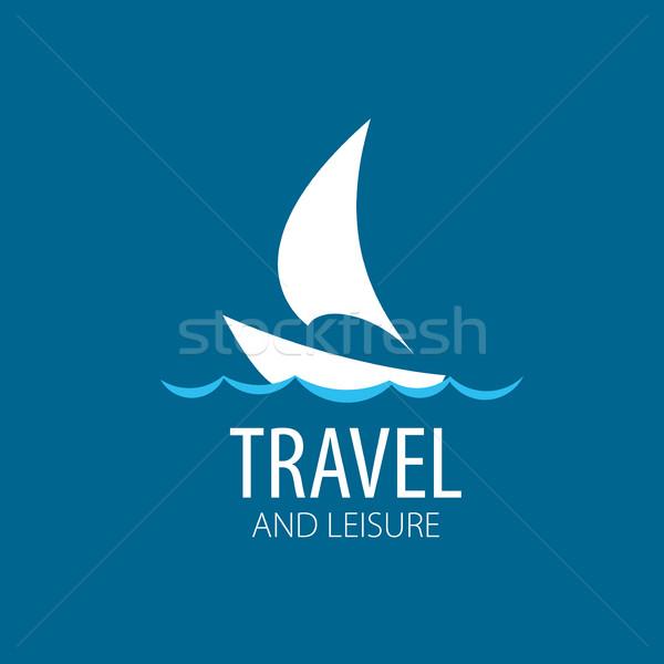 vector logo Yacht Stock photo © butenkow