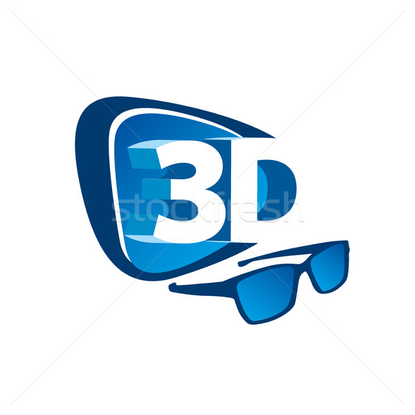 vector logo stereoscopy Stock photo © butenkow