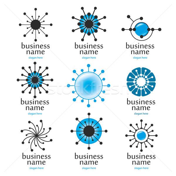 Digitális technológia logo technológia felirat ipar tudomány Stock fotó © butenkow