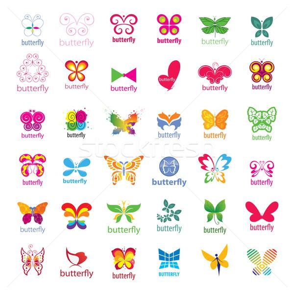 biggest collection of vector logos butterflies  Stock photo © butenkow