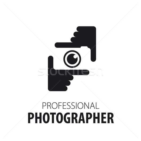 Logotipo câmera mãos fotógrafo projeto tecnologia Foto stock © butenkow