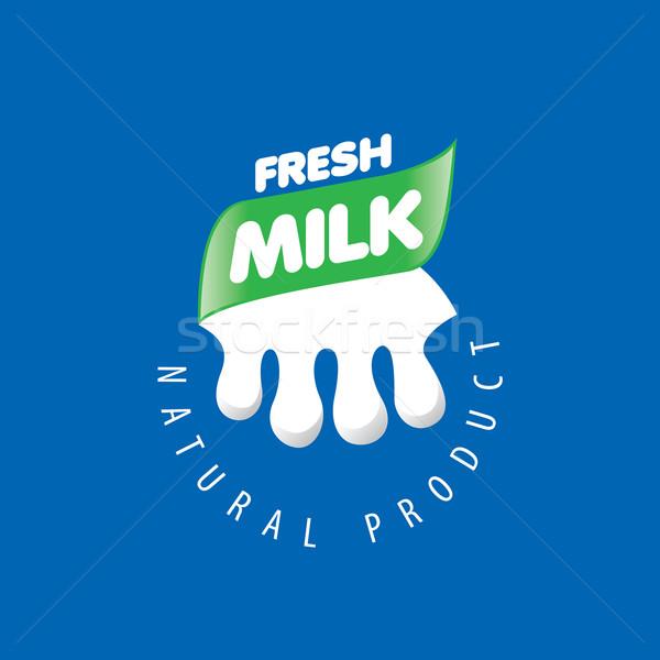 Vector Milk logo Stock photo © butenkow