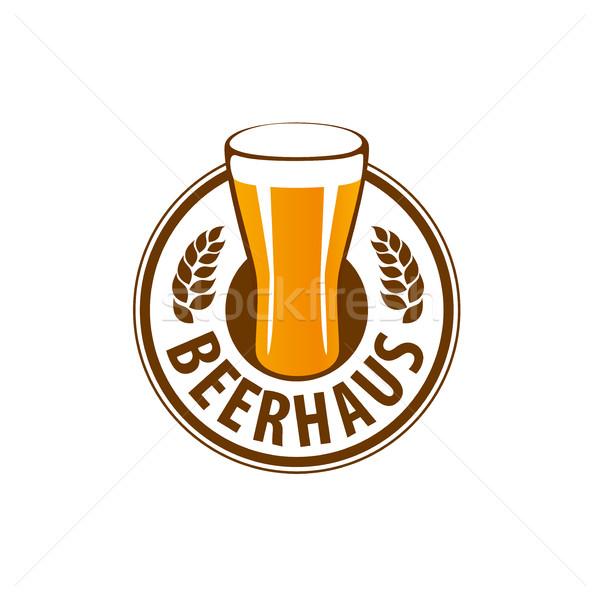 Stock fotó: Vektor · sör · logo · sablon · üveg · terv
