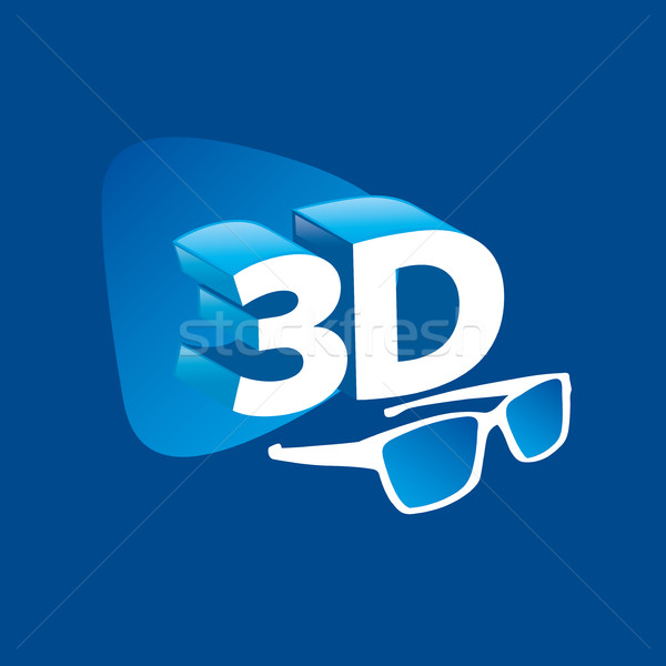 Vektor logo 3D logoterv sablon ikon Stock fotó © butenkow