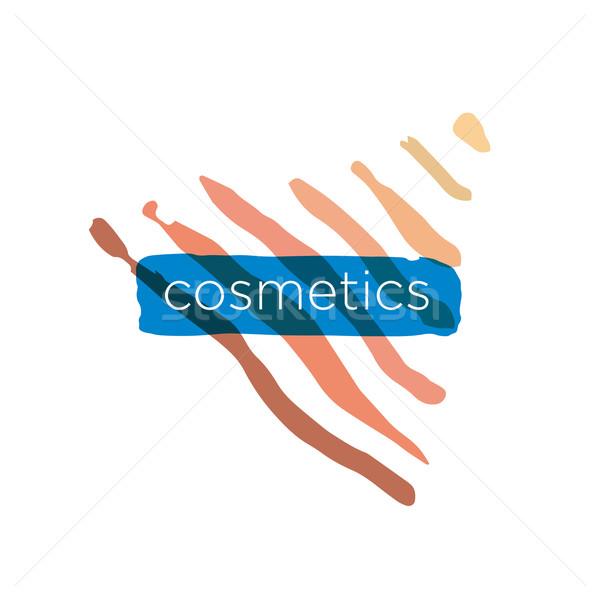 Abstract vector logo pyramid for cosmetics Stock photo © butenkow