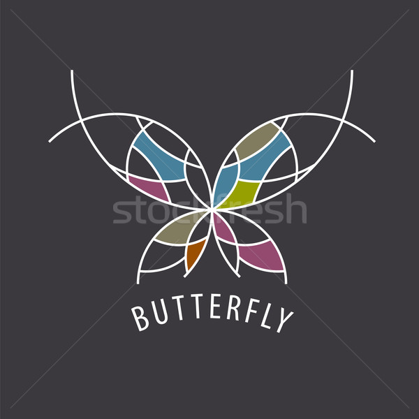 vector logo schematic butterfly with color inserts Stock photo © butenkow