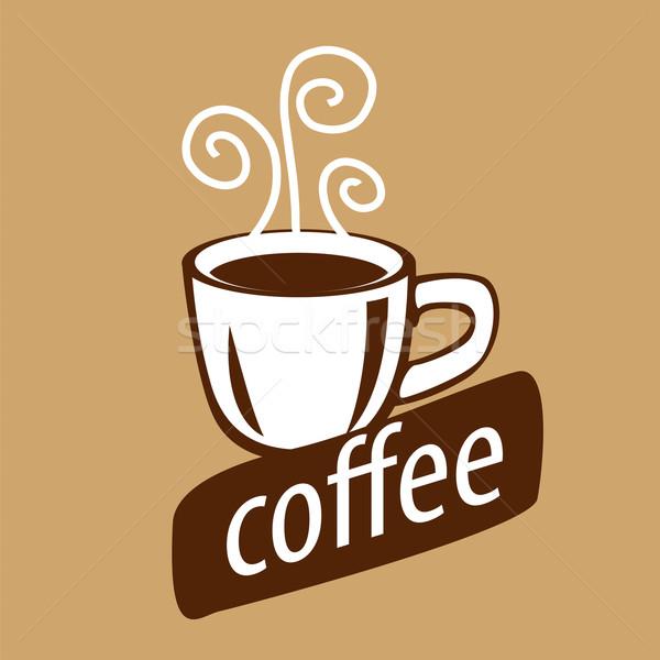ベクトル ロゴ カップ コーヒー 蒸気 デザイン ストックフォト © butenkow