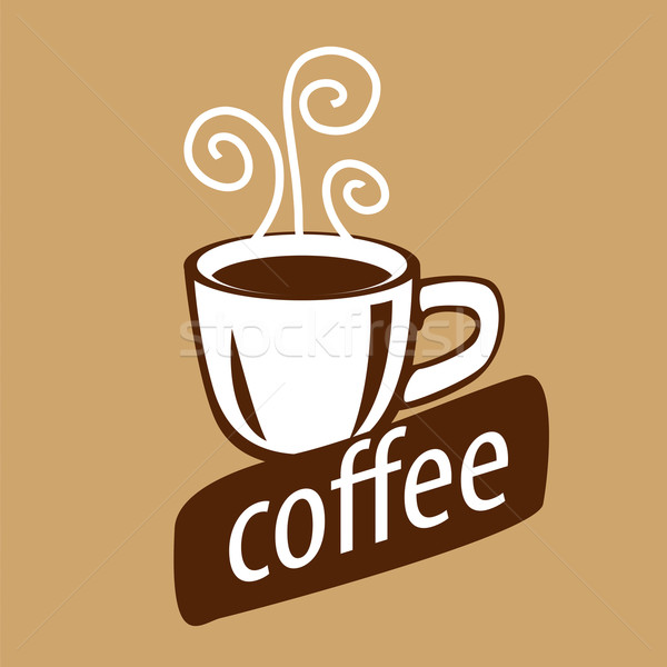 вектора логотип Кубок кофе пар дизайна Сток-фото © butenkow