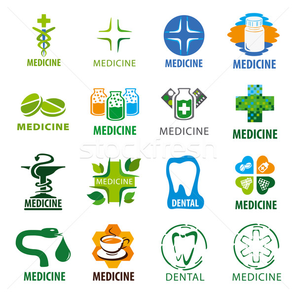 Mare set vector logos medicină Imagine de stoc © butenkow