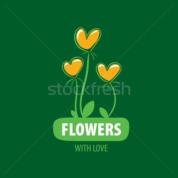 flower vector logo Stock photo © butenkow