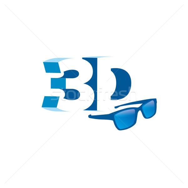 vector logo stereoscopy Stock photo © butenkow