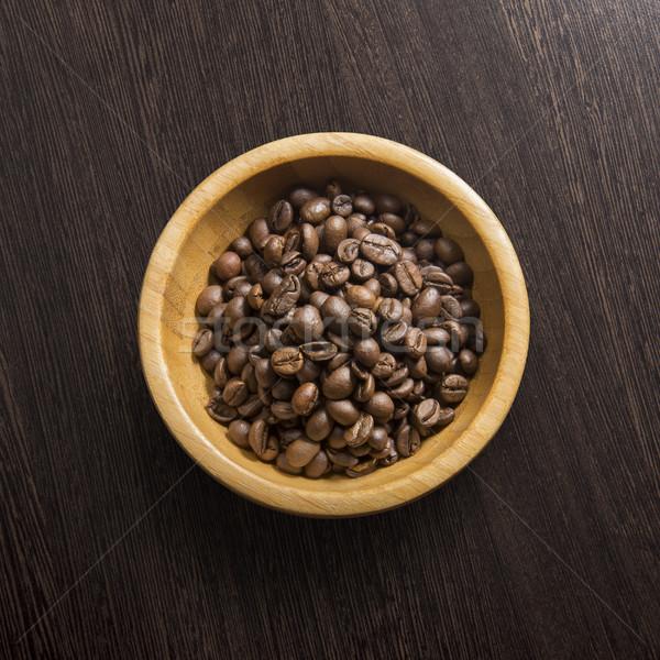 Kahve ahşap üst görmek siyah enerji Stok fotoğraf © butenkow