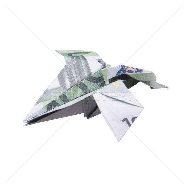 Origami Bird from banknotes Stock photo © butenkow
