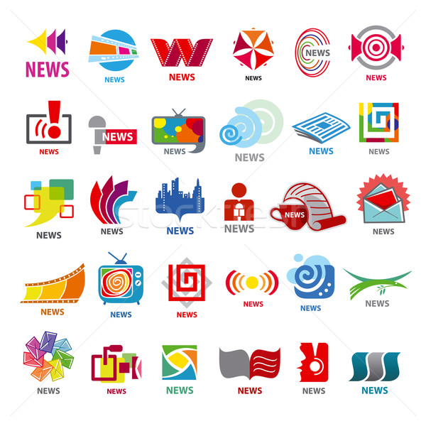 biggest collection of vector logos news  Stock photo © butenkow
