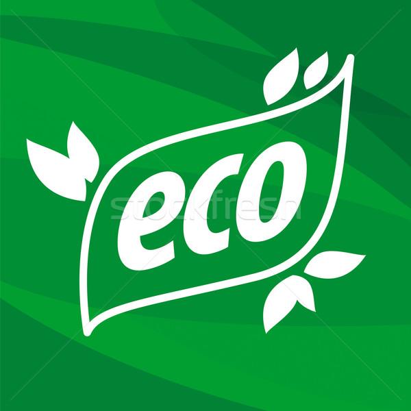 öko vektor logo zöld üzlet absztrakt Stock fotó © butenkow