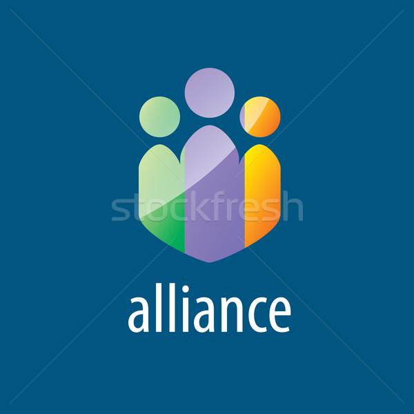 человека альянс логотип аннотация красочный вектора Сток-фото © butenkow