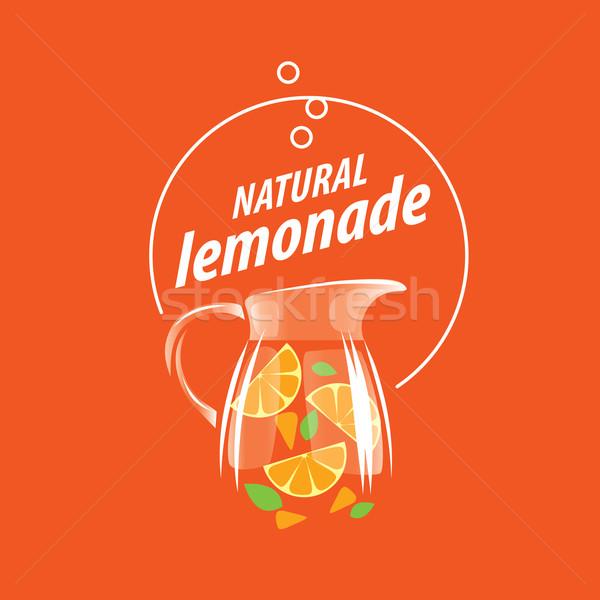 Logo limonádé üveg dzsúz ikon hosszú Stock fotó © butenkow