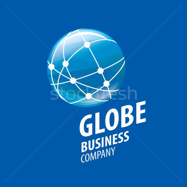 Earth  logo template. Globe sign Stock photo © butenkow
