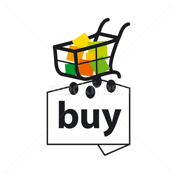 vector logo basket with goods to buy Stock photo © butenkow