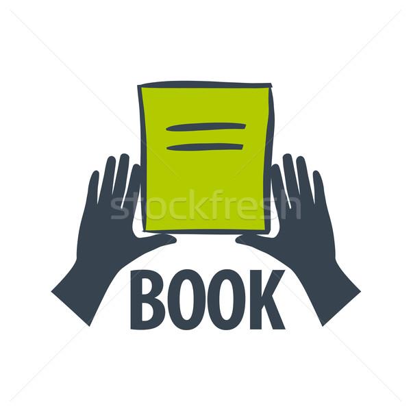 vector logo hand holding a book Stock photo © butenkow