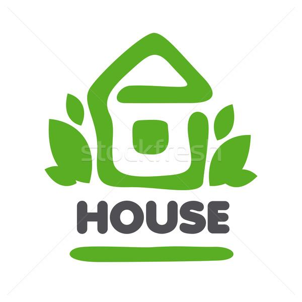 вектора логотип теплица листьев бизнеса аннотация Сток-фото © butenkow