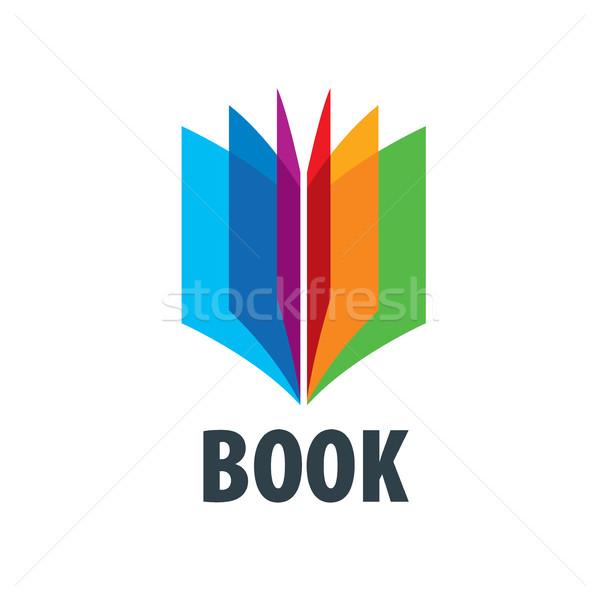 Vektör imzalamak kitap soyut logo kitaplar Stok fotoğraf © butenkow
