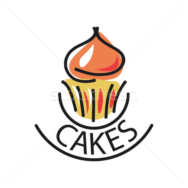 vector logo Cake for menu cafe or restaurant Stock photo © butenkow