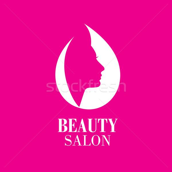 Stok fotoğraf: Vektör · logo · güzellik · kadın · yüz · salon