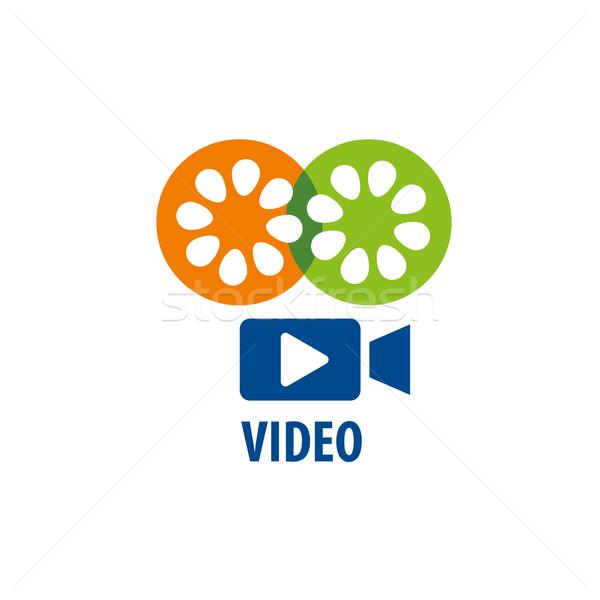vector logo Camcorder Stock photo © butenkow