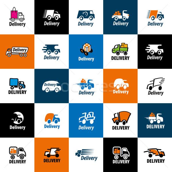 vector logo trucking Stock photo © butenkow
