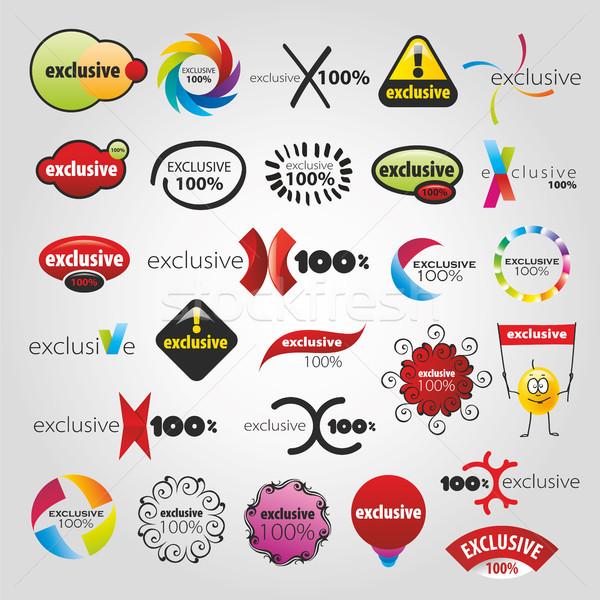 Exclusief collectie iconen ontwerp kruis print Stockfoto © butenkow