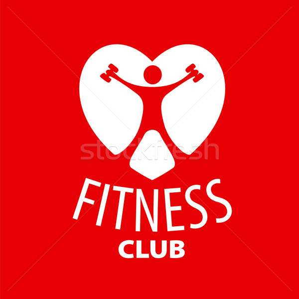 vector logo in the shape of a heart for a fitness club Stock photo © butenkow