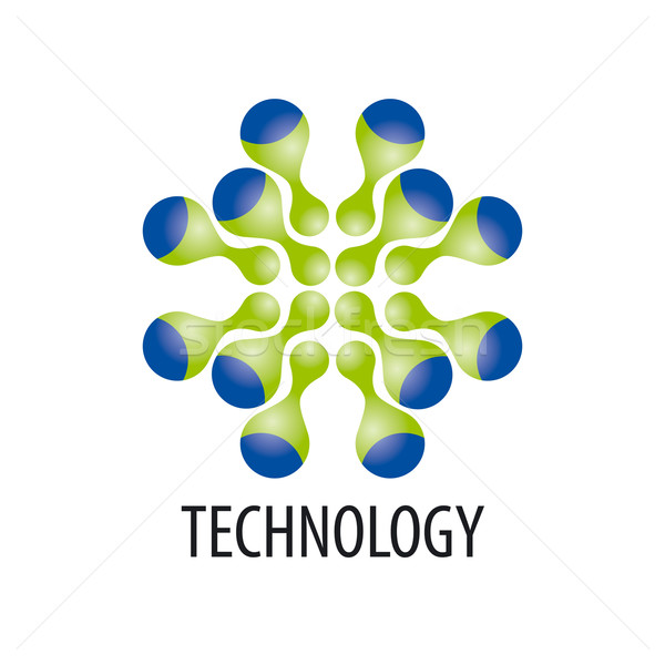 Technology logo in the form of atoms4 Stock photo © butenkow