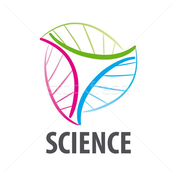 DNA vector logo in the form of multi-colored flower Stock photo © butenkow