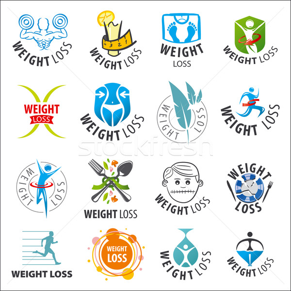 large set of vector logos weight loss Stock photo © butenkow