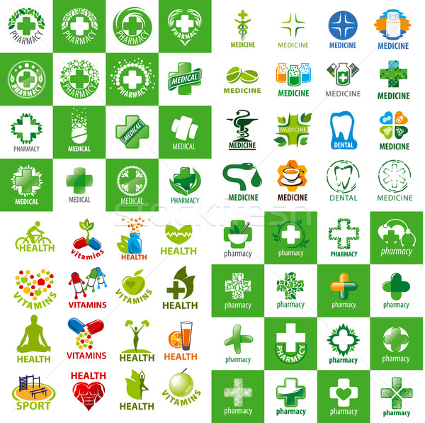 biggest collection of vector logos for medicine Stock photo © butenkow