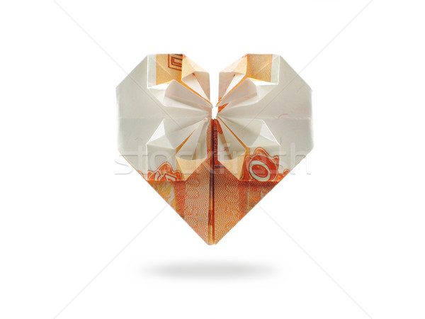 origami heart of five thousand ruble banknote Stock photo © butenkow