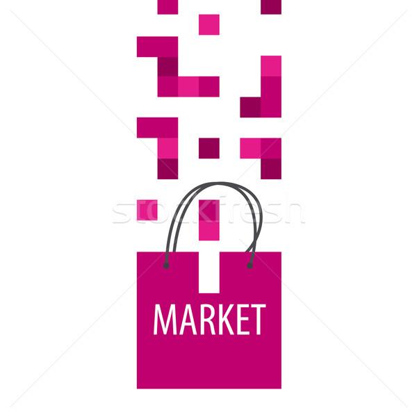 Vektör logo alışveriş çantası iş bilgisayar Internet Stok fotoğraf © butenkow