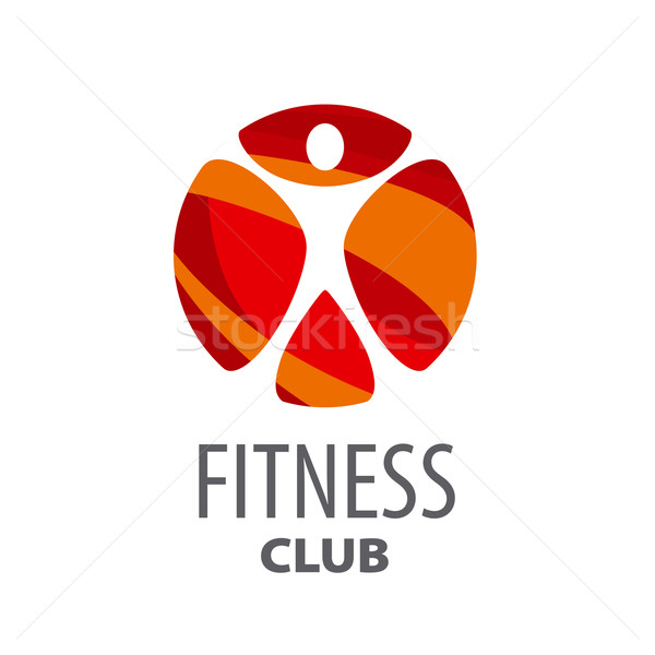Round vector logo for fitness center Stock photo © butenkow