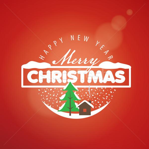 Vecteur logo Noël résumé joyeux nouvelle année Photo stock © butenkow