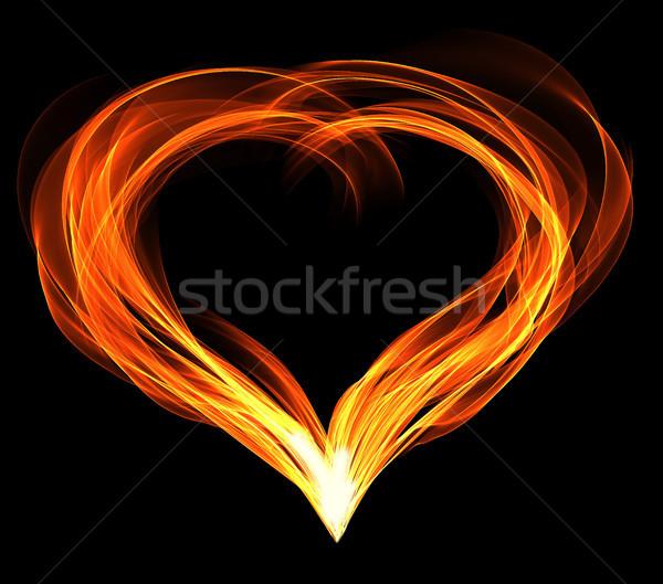 Ardiente corazón fuego resumen fondo wallpaper Foto stock © butenkow