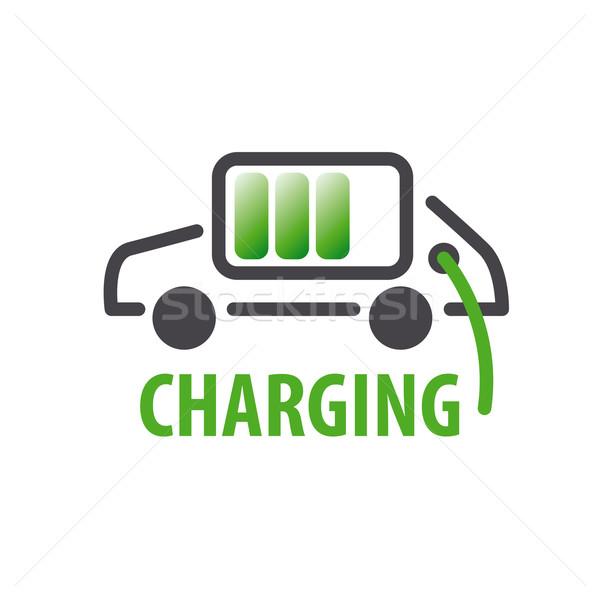 vector logo charging car batteries Stock photo © butenkow