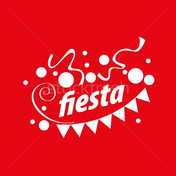 Wakacje wektora logo streszczenie projektowanie logo strony Zdjęcia stock © butenkow