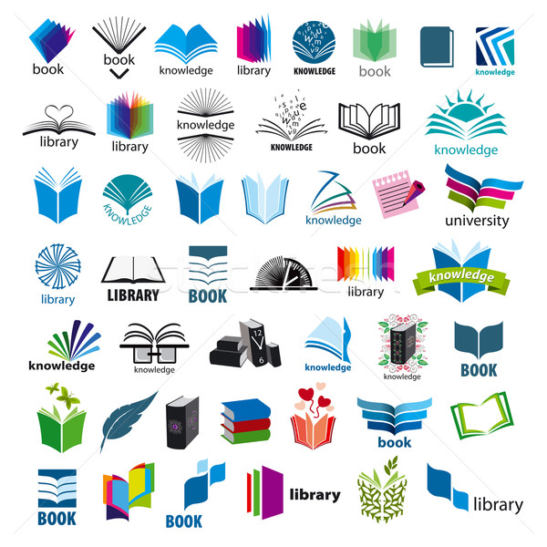 biggest collection of vector logos books Stock photo © butenkow