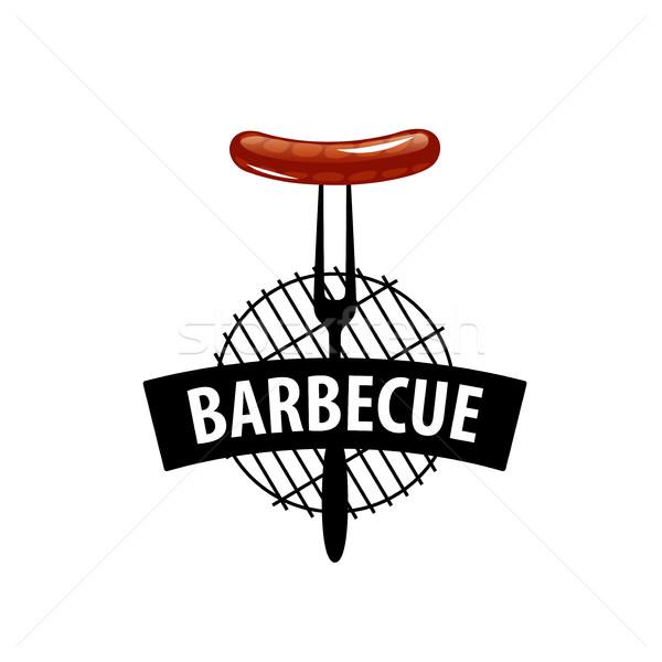 Barbecue buli logo logoterv sablon étel Stock fotó © butenkow