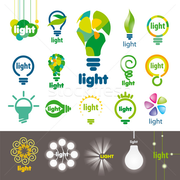 biggest collection of vector logos lamps  Stock photo © butenkow