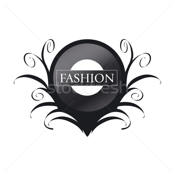 vector logo black circle with patterns Stock photo © butenkow