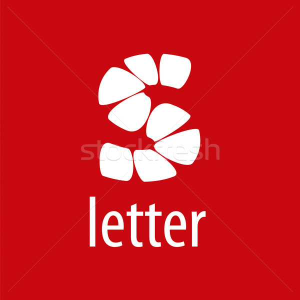 Abstract vector logo letter S on a red background Stock photo © butenkow