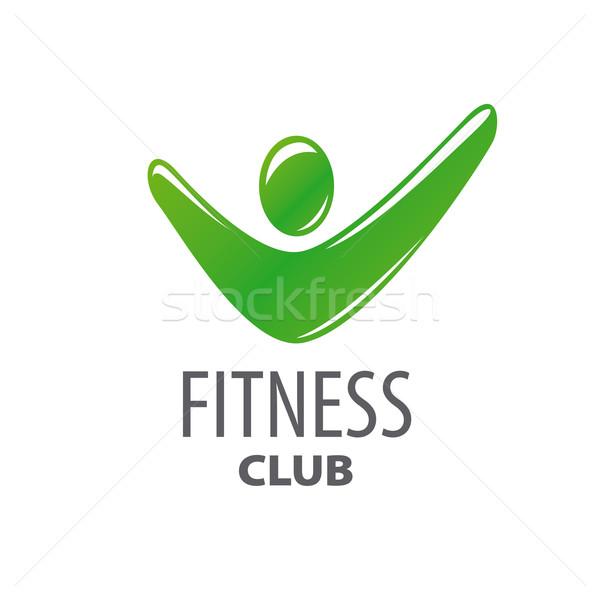 Absztrakt zöld vektor logo fitnessz központ Stock fotó © butenkow